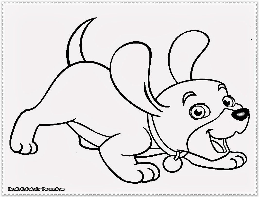 Puppy Coloring Pages Realistic Coloring Pages | coloring_pages ...