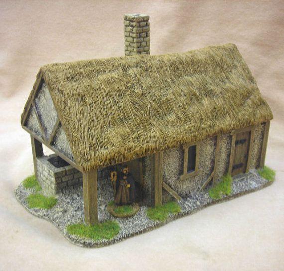 Me52 Medieval Tudor Blacksmiths Forge Thatch Roof With Lift Off Roof Medieval Thatched Roof Medieval Houses