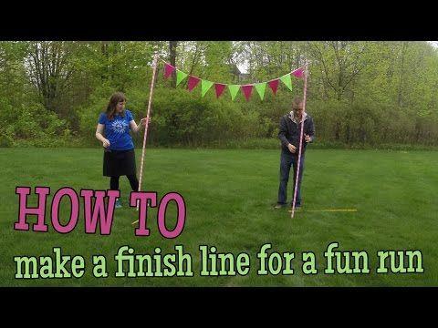 42b2a126a8e29 How to make a finish line for a fun run - YouTube