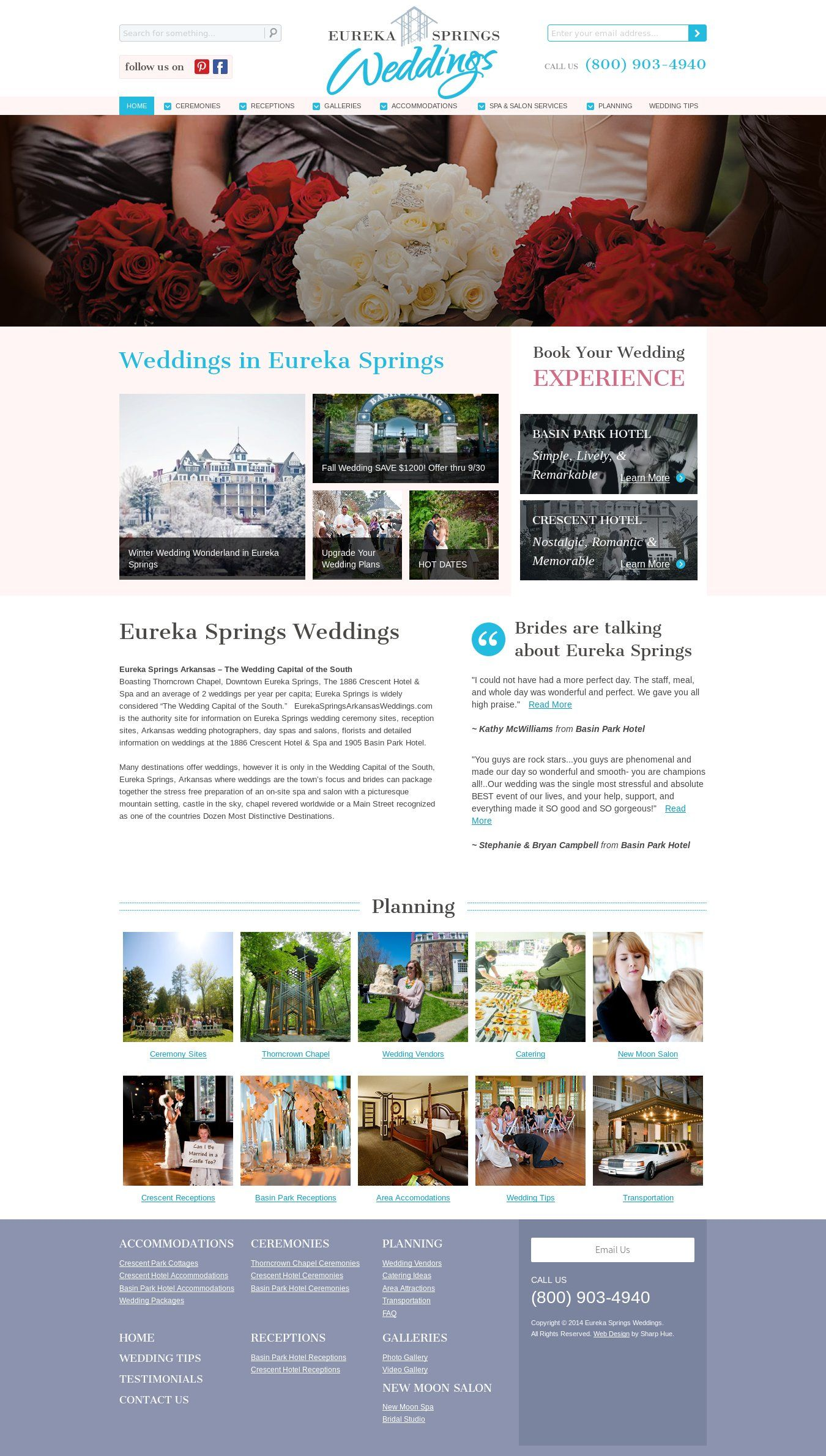 WordPress site eurekaspringsarkansasweddings.com uses the Eureka ...