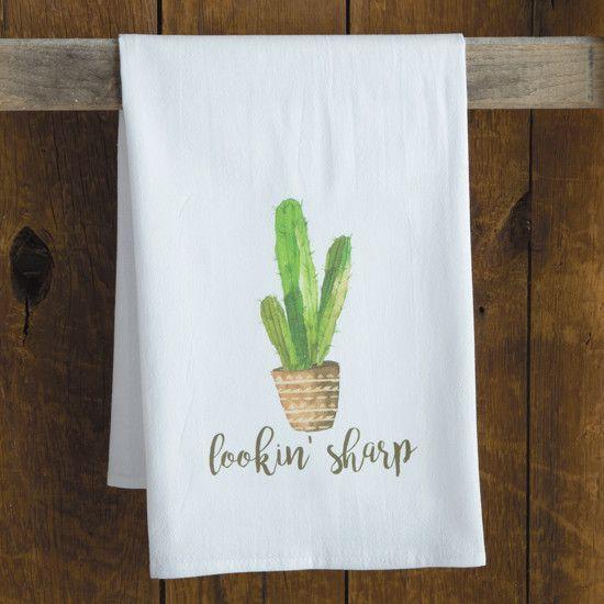Looking Sharp Cactus Towel Cactus Decor Cactus Home Diy