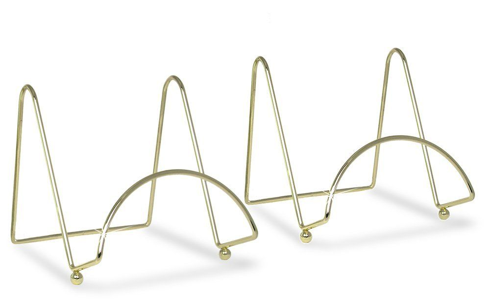 Amazon.com: Brass Wire Easel Display Stand Plate Holders - Smooth ...