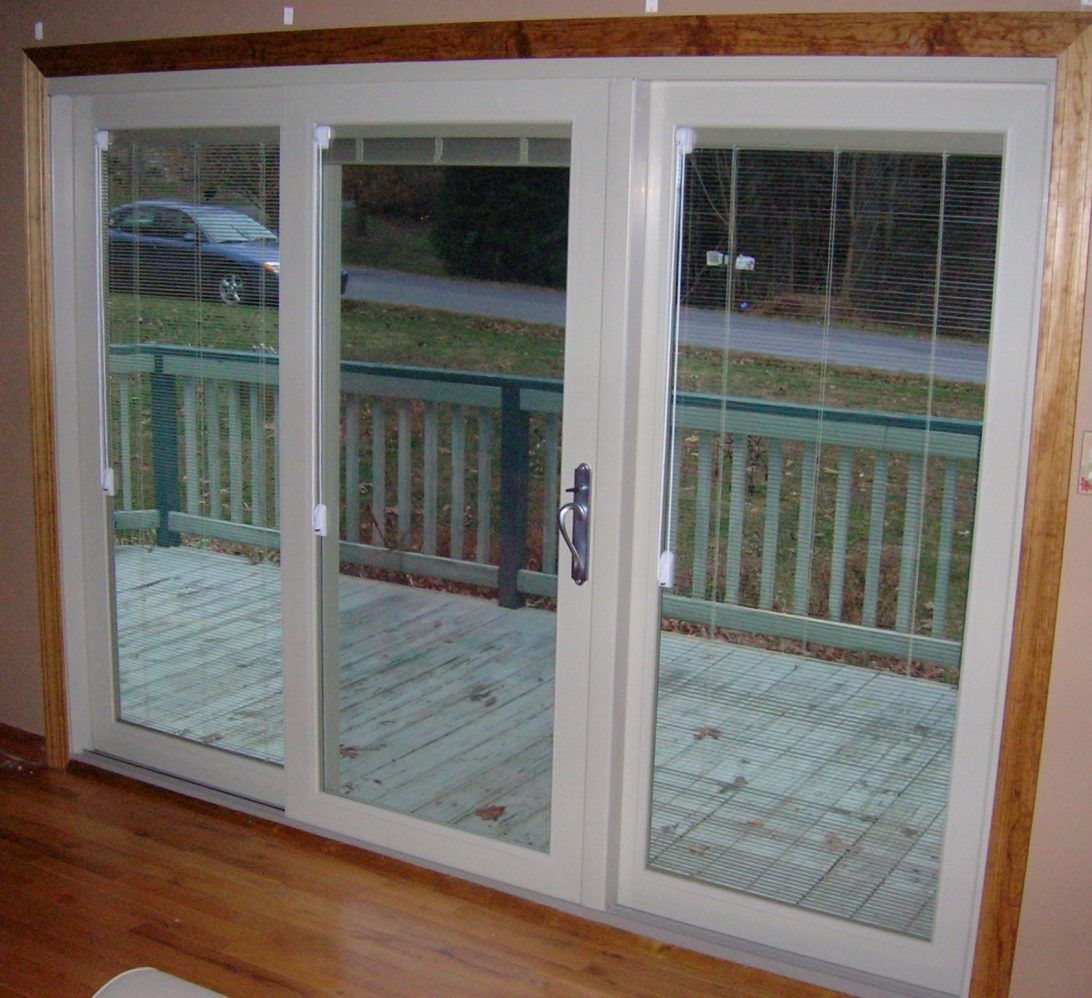 Hinged Patio Doors Sliding Patio Doors With Built In Blinds Pella
