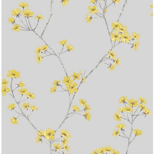 home of colour harmony zest wallpaper from homebasecouk - Flower Wallpaper For Home
