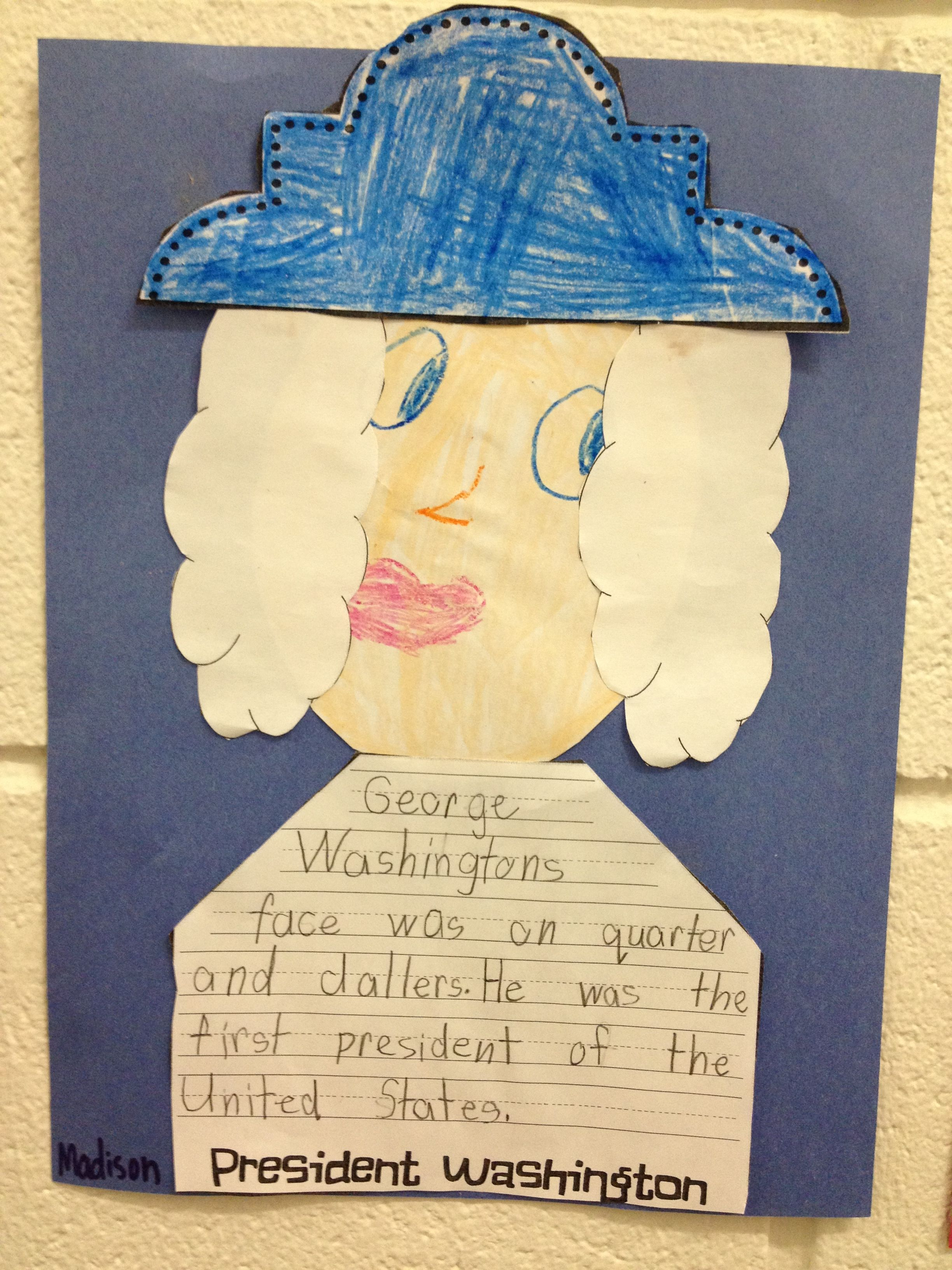 George Washington Writing And Craft Glue Cotton Balls To