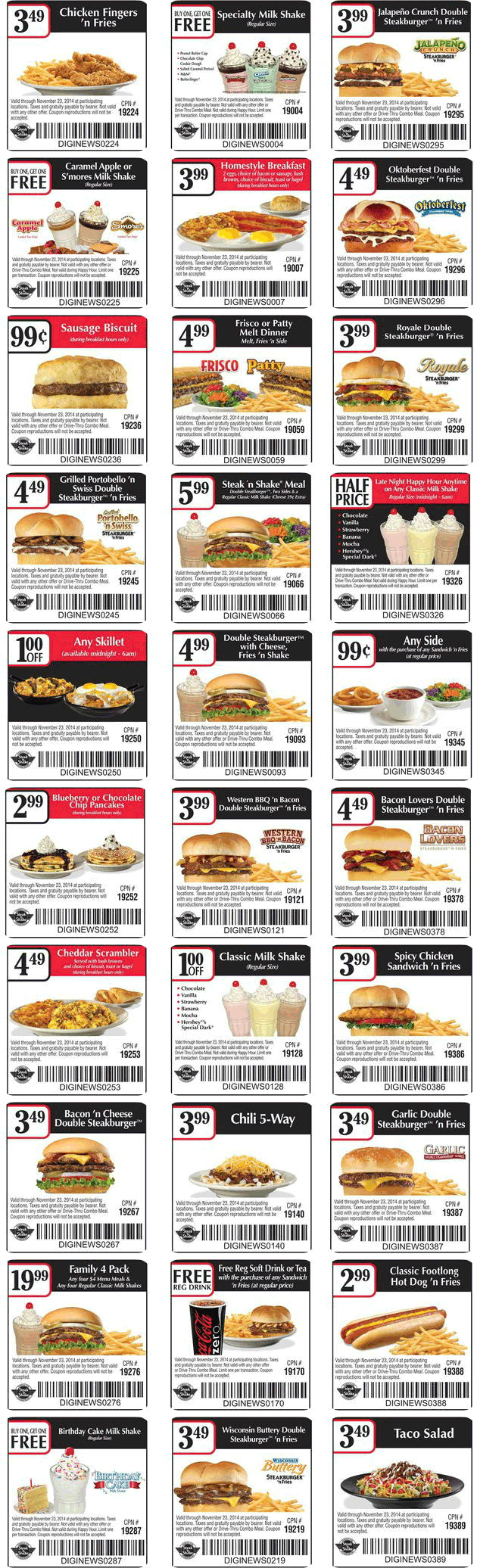 Steak and shake mobile coupons