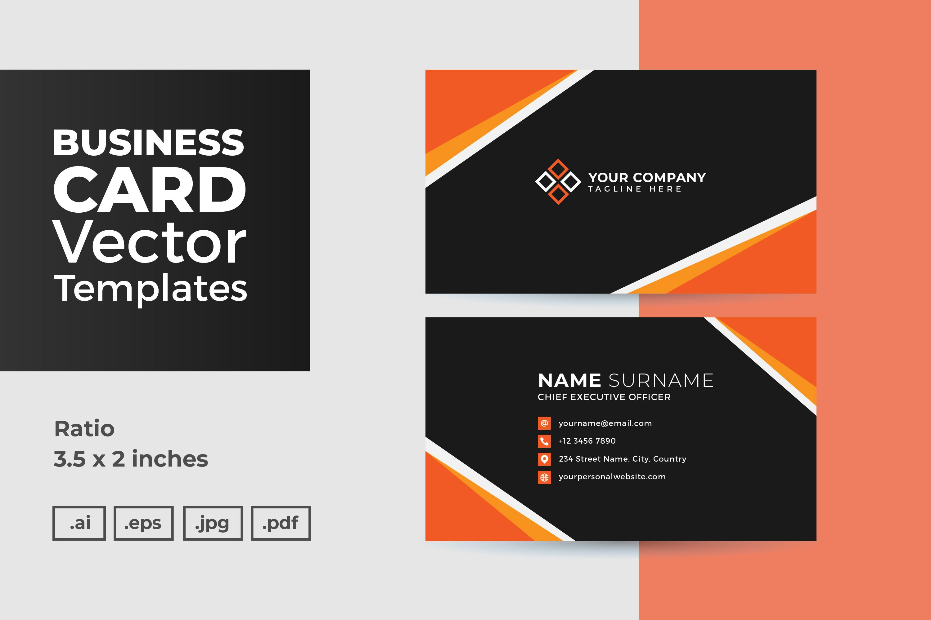 Business Card Vector Template Graphic By Dendysign Di 2020