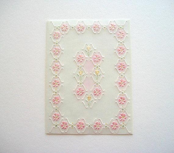 Reliéfne Svadobné Card Semi Transparent Parchement Card ručne maľované