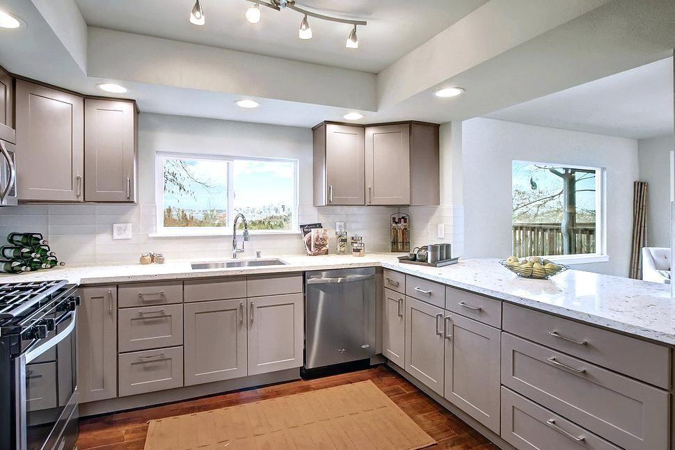 Best Grey Shaker Kitchen Cabinets Light Gray Shaker Kitchen 400 x 300