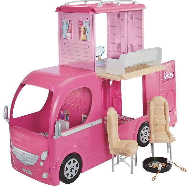 Barbie Pop-Up Camper Vehicle   Barbie camper, Barbie toys, Barbie