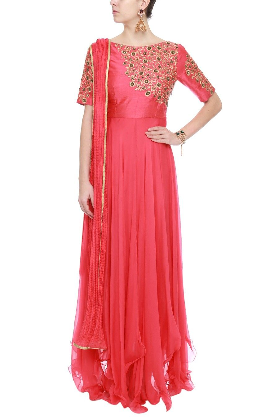 Carrot bias kali suit with heavy work by tanko shop now