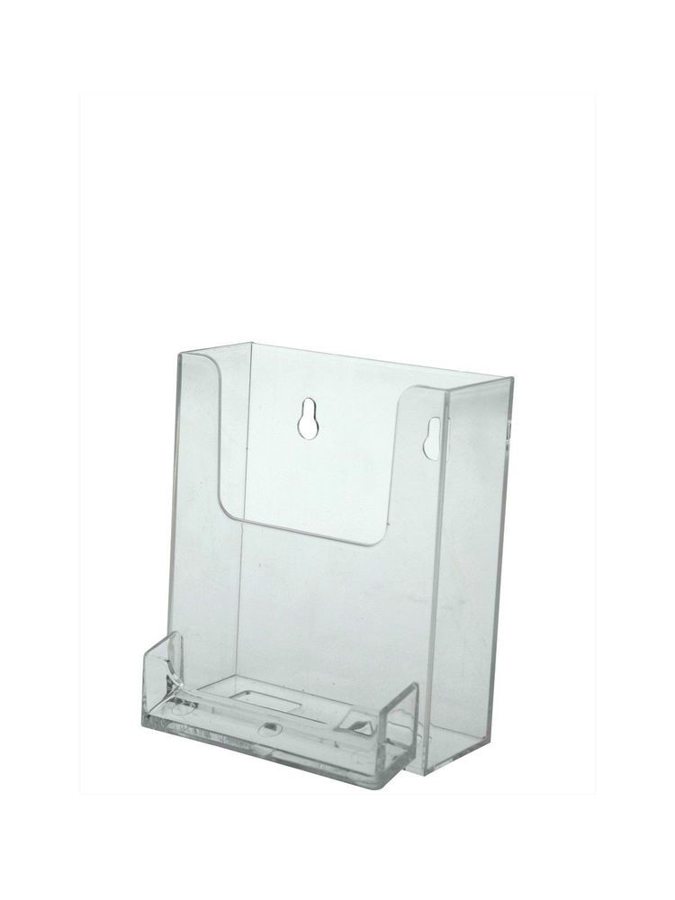 Lot of 12 Wall Brochure Holder with attached Business Card Holder ...