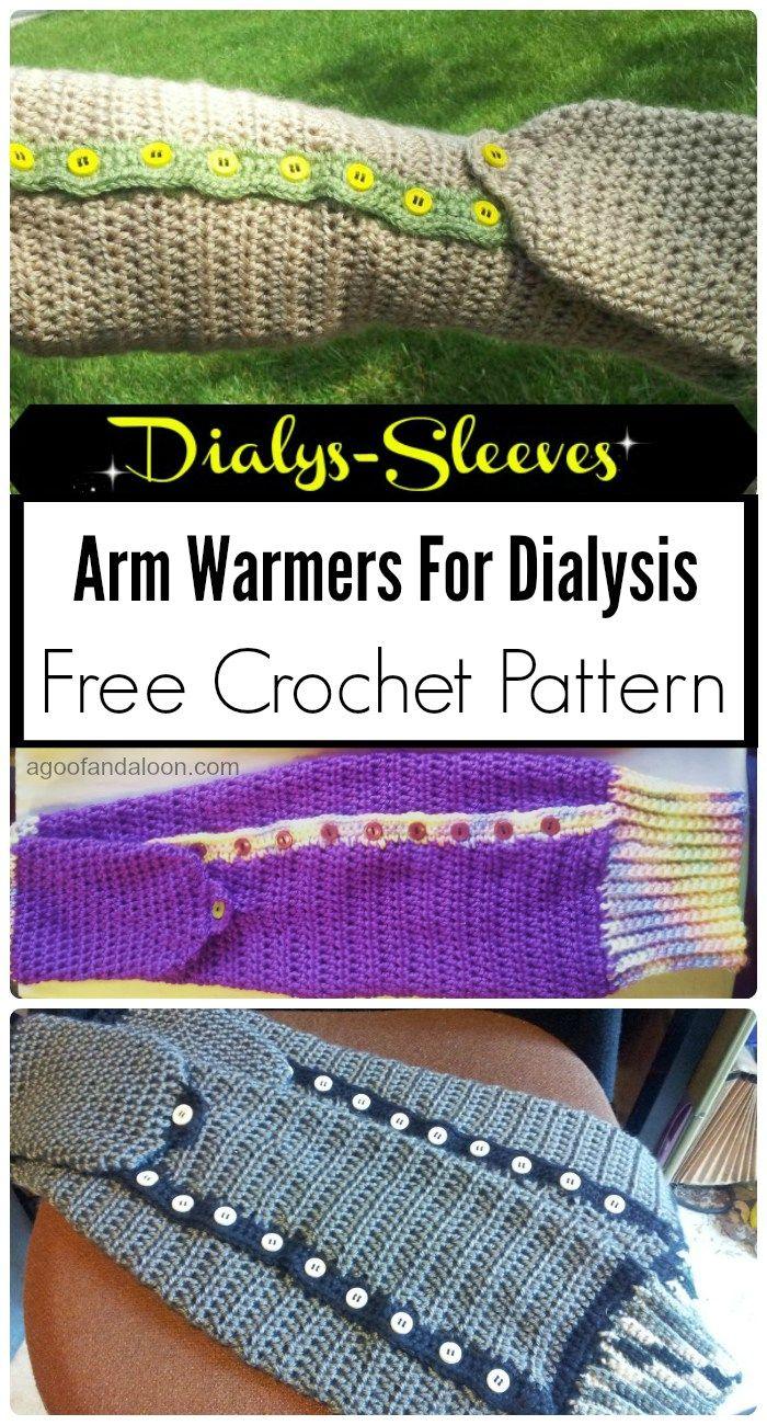 Dialys-Sleeves Arm Warmers – Free Crochet Pattern | Pinterest
