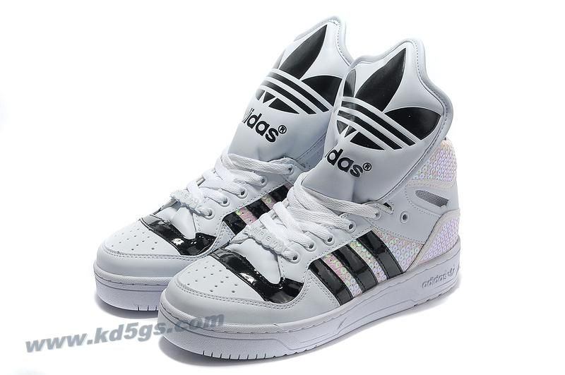 Adidas X Jeremy Scott Big Tongue Shoes White Online  b68d545529f4