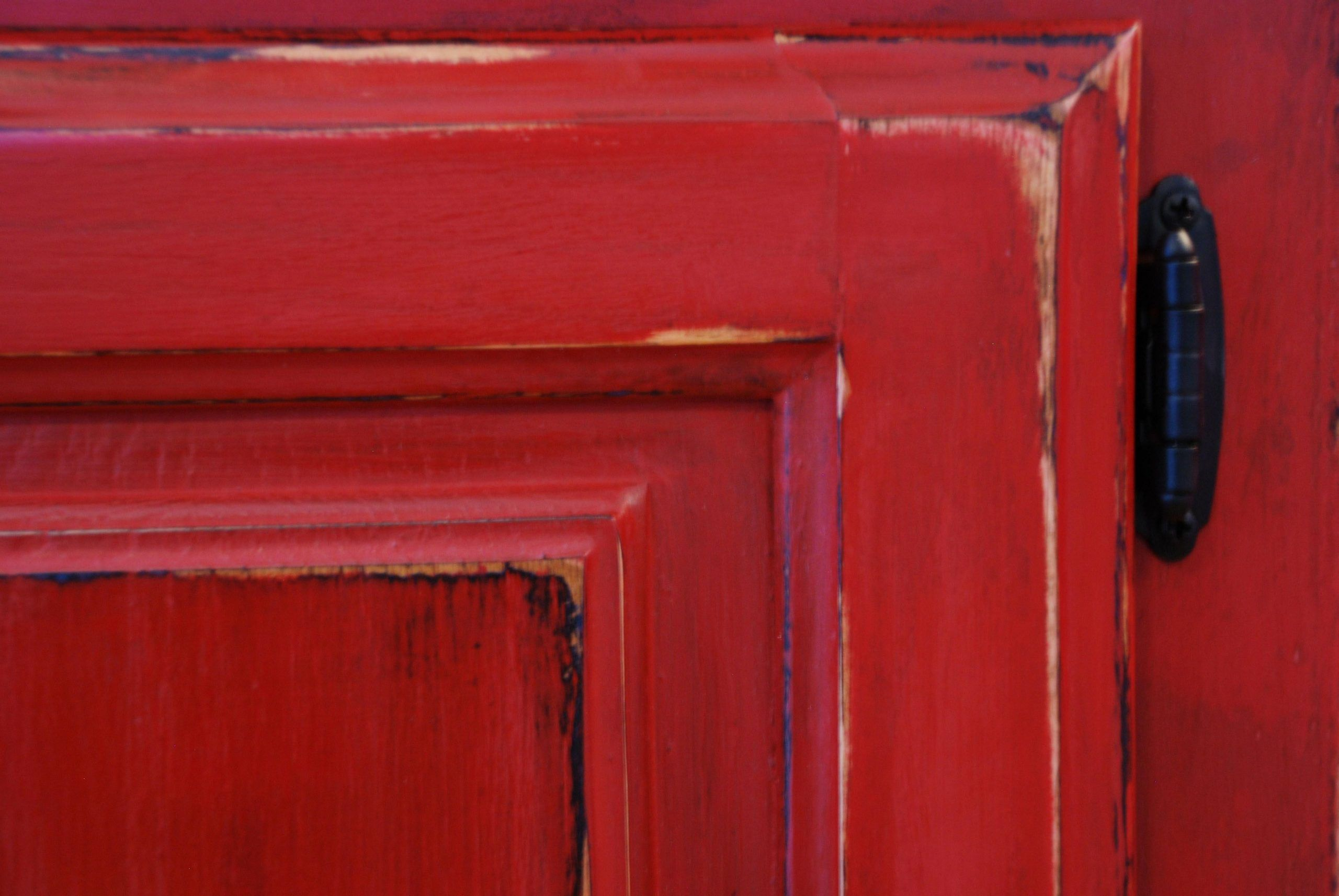 Red Distressed Furniture Google Search Distressed Furniture Google Red Search In 2020 Red Distressed Furniture Red Kitchen Cabinets Distressed Kitchen Cabinets