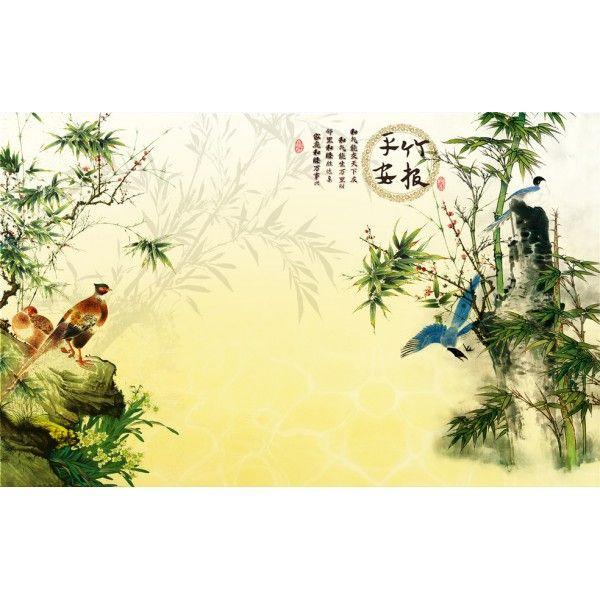 Chinese wallpaper papier peint chinois personnalisable les for Papier peint motif chinois