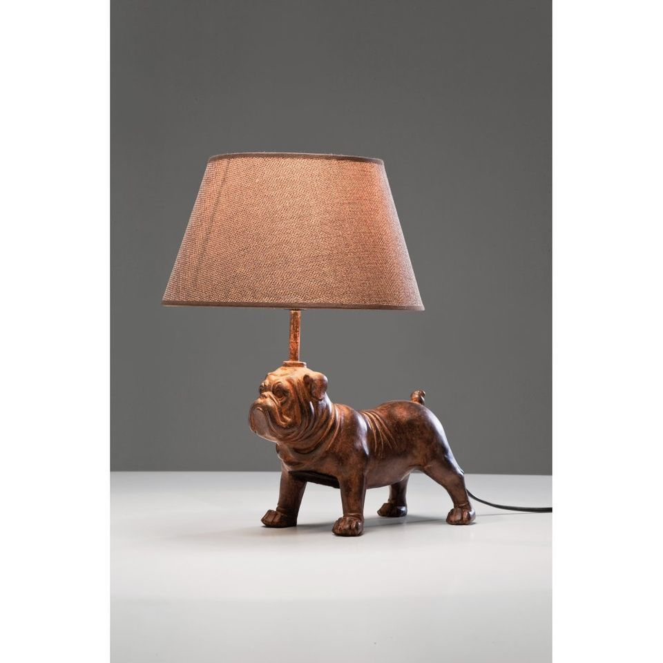 Hh pug dog table lamp new home deco let there be light pug dog table lamp new geotapseo Gallery