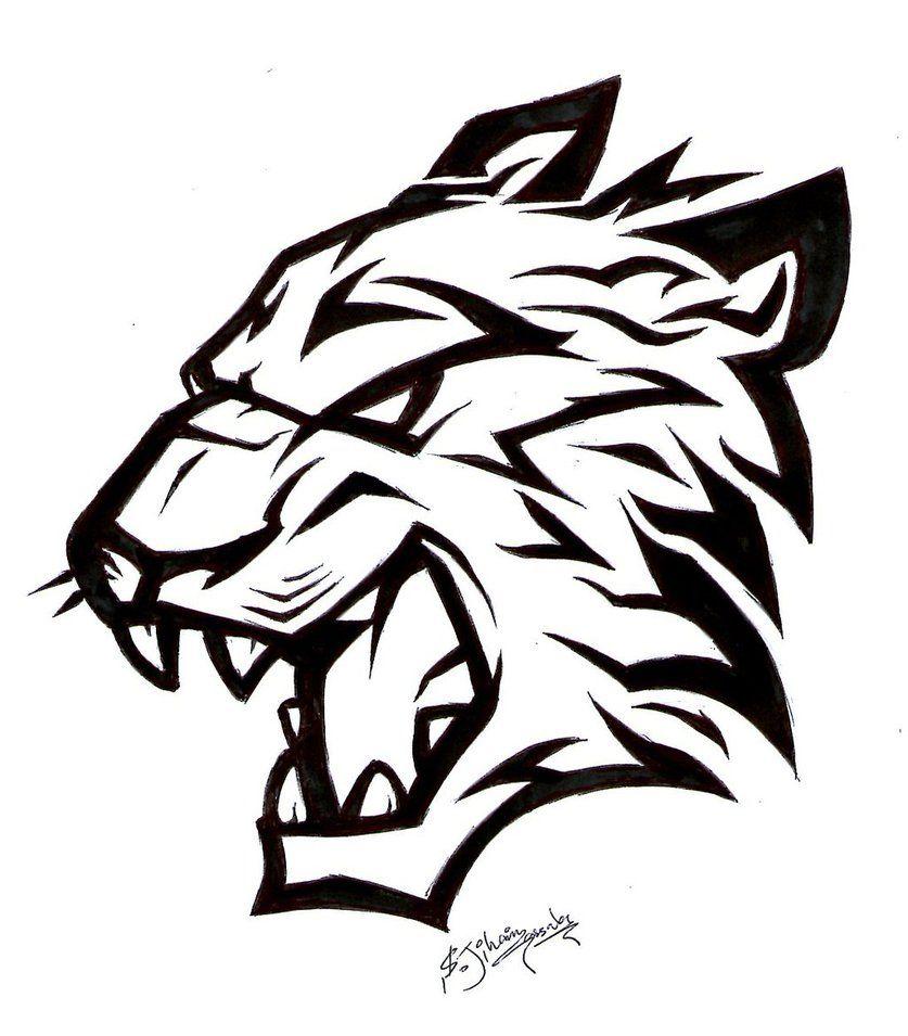 Tiger Tattoo By Geehan9 Gambar Serigala Gambar Hewan Binatang