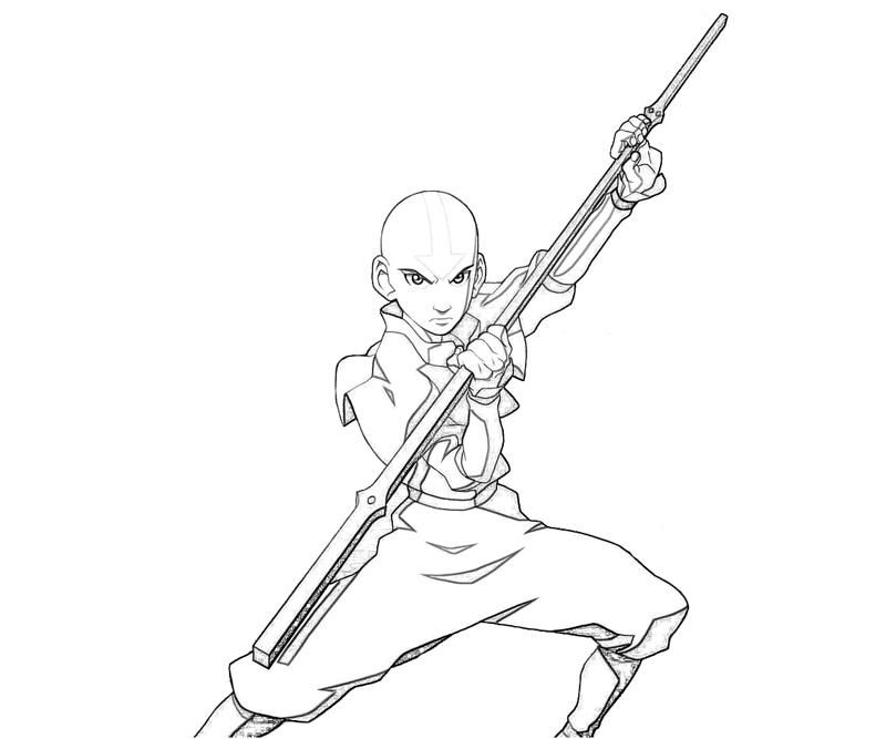 Avatar Aang Power   Yumiko Fujiwara   LineArt: Avatar Last Airbender ...