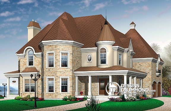 Plan de Maison unifamiliale W3841, champêtre, country, house style - idee de plan de maison