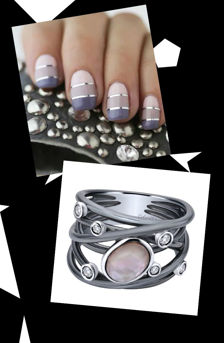 Pair this perfect mani with a silver rock crystal & pink mother ...