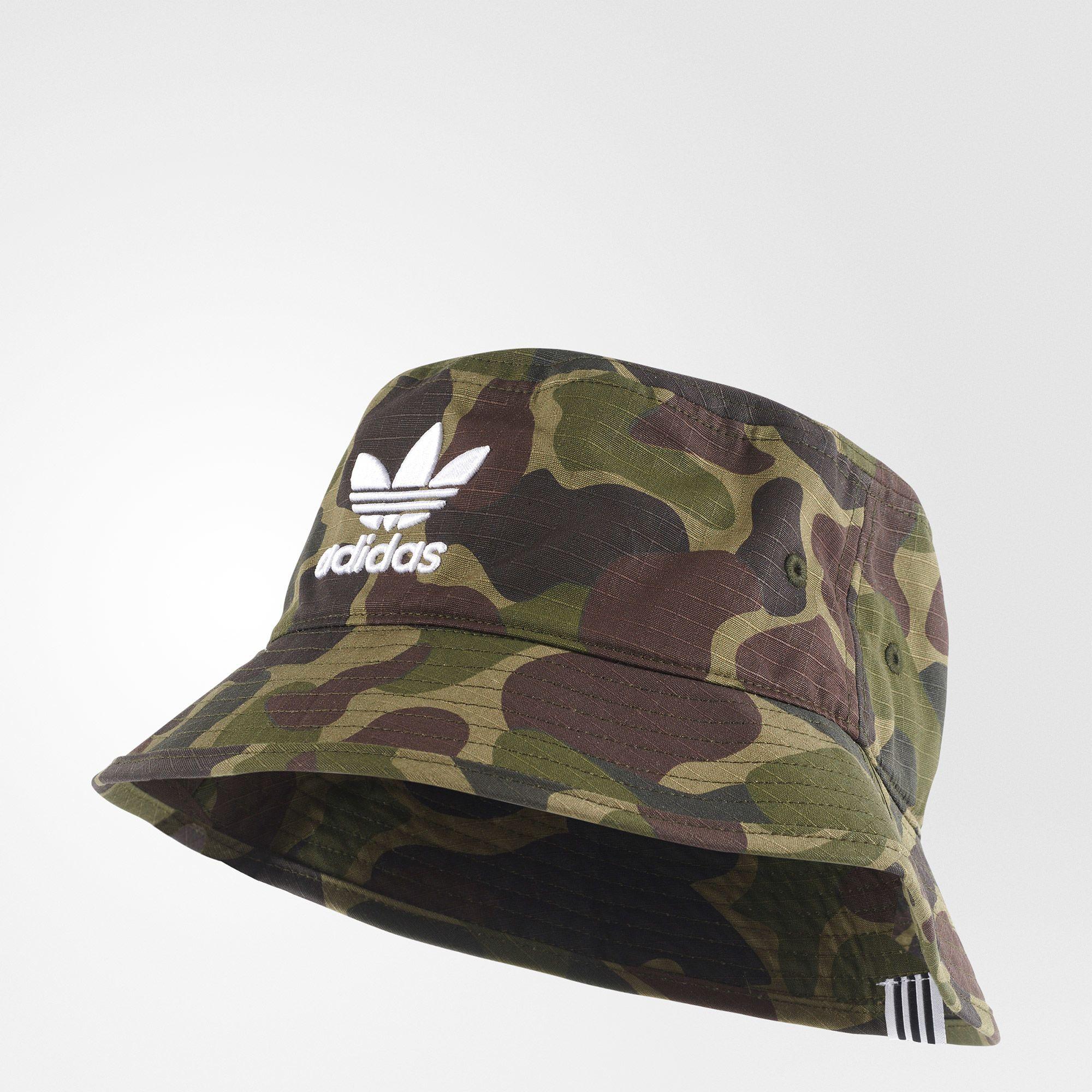 adidas - Chapeu Bucket Camo  f92819f513f1
