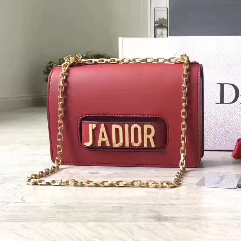 315cb64b6023 Dior J ADIOR Flap Bag With Chain In Red Calfskin 2017