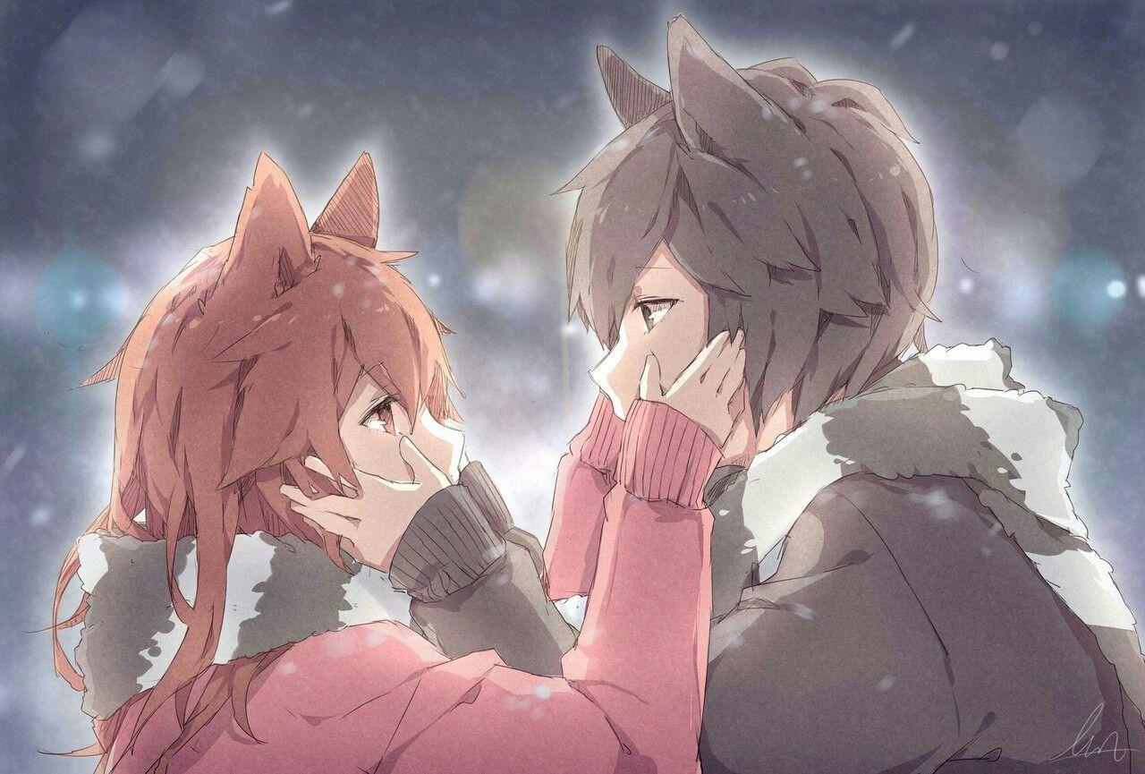 Ahhhh too cute!!! Fox couples!!! Casal anime, Anime