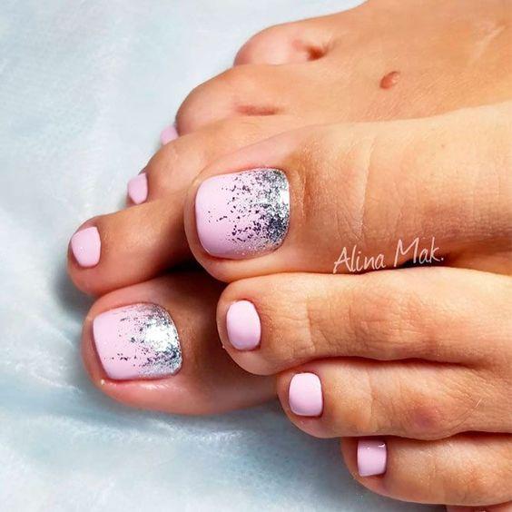 27 Adorable Easy Toe Nail Designs 2020 Simple Toenail Art Designs Page 11 Of 25 Creative Vision Design Easy Nail Designs In 2020 Simple Toe Nails Easy Toe Nail Designs Glitter Toe Nails