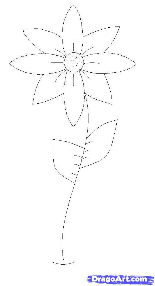 Easy Pics To Draw | How To Draw A Flower Easy. | Drawings ...