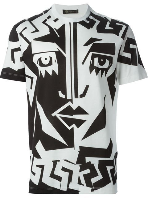 4059f1612bb2 Versace Printed T-shirt - Luisa Boutique - Farfetch.com