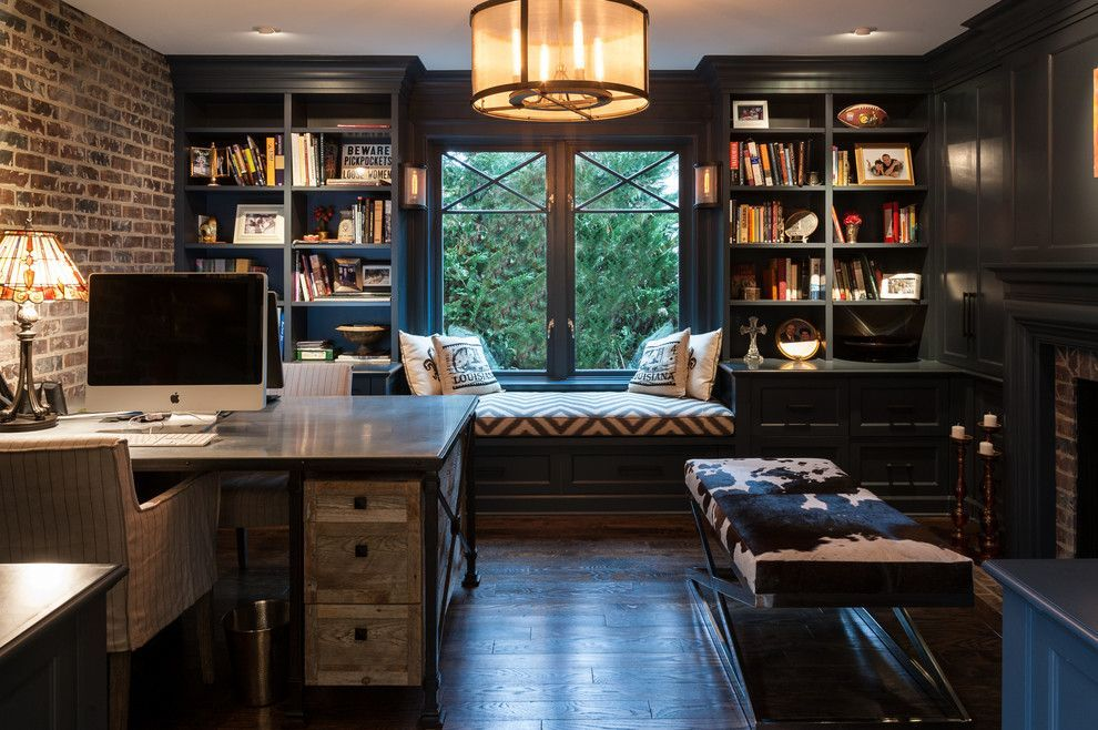 Industrial Style Home Office Home Industrial Office Officeinspirationindustrial Style In 2020 Industrial Home Offices Home Office Design Home