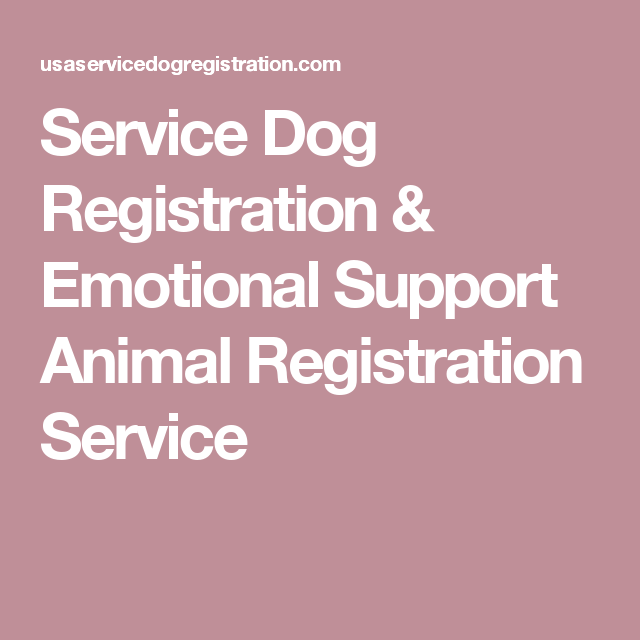Service Dog Registration Emotional Support Animal Registration Servic Service Dog Registration Emotional Support Animal Registration Emotional Support Animal