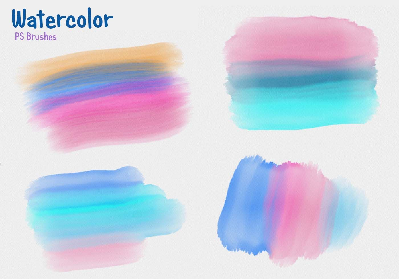 20 Watercolor Mask Ps Brushes Abr Free Photoshop Brushes At
