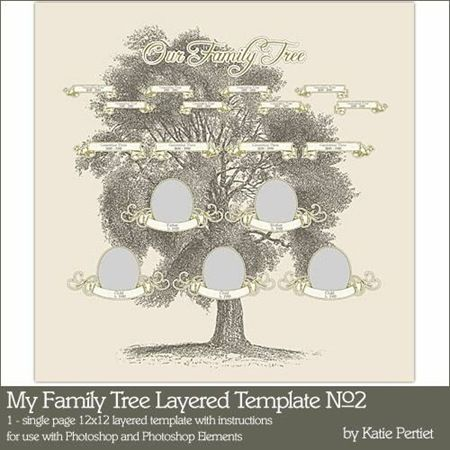 List of family tree scrapbooking pages | Tree templates ...