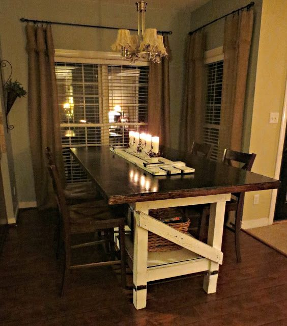 Down to Earth Style: A Shutter & Candles  - I love this table!!
