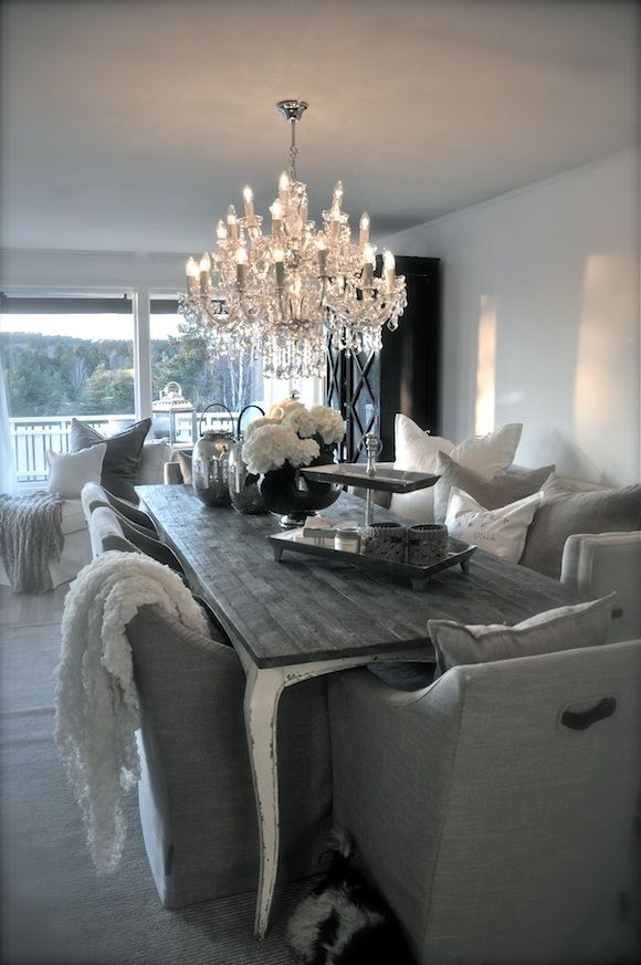 This Is A Beautiful Dining Room   Love The Choice Of Chairs!
