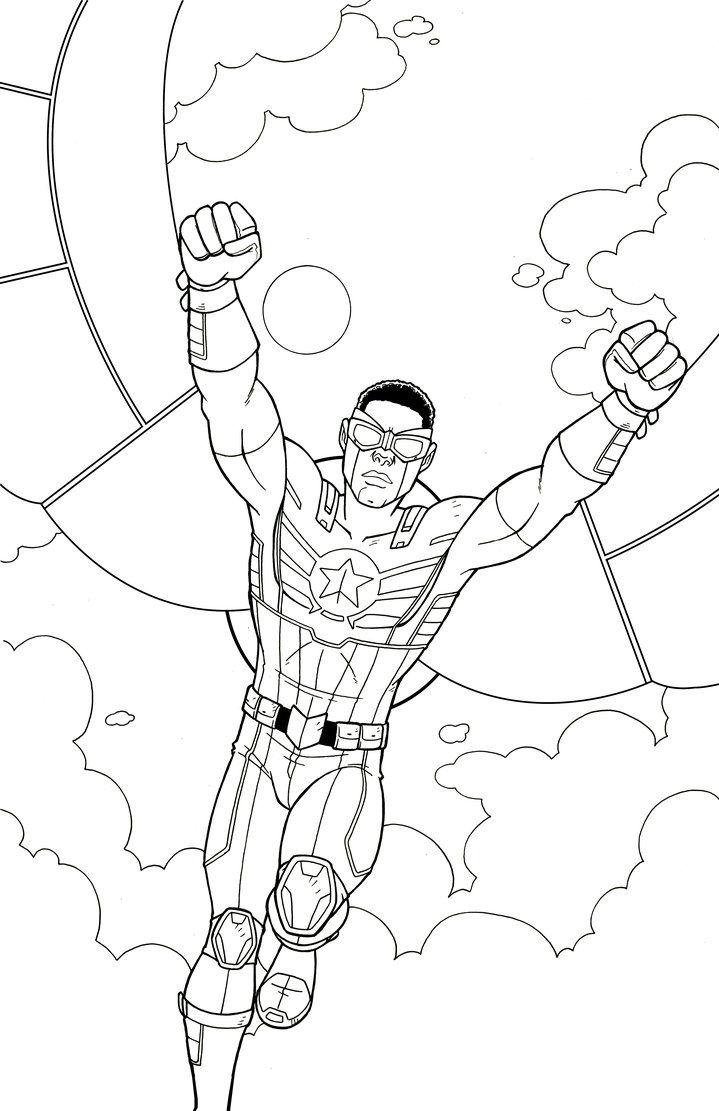 Captain America Falcon By Jamiefayx Captain America Coloring Pages Marvel Coloring Captain America