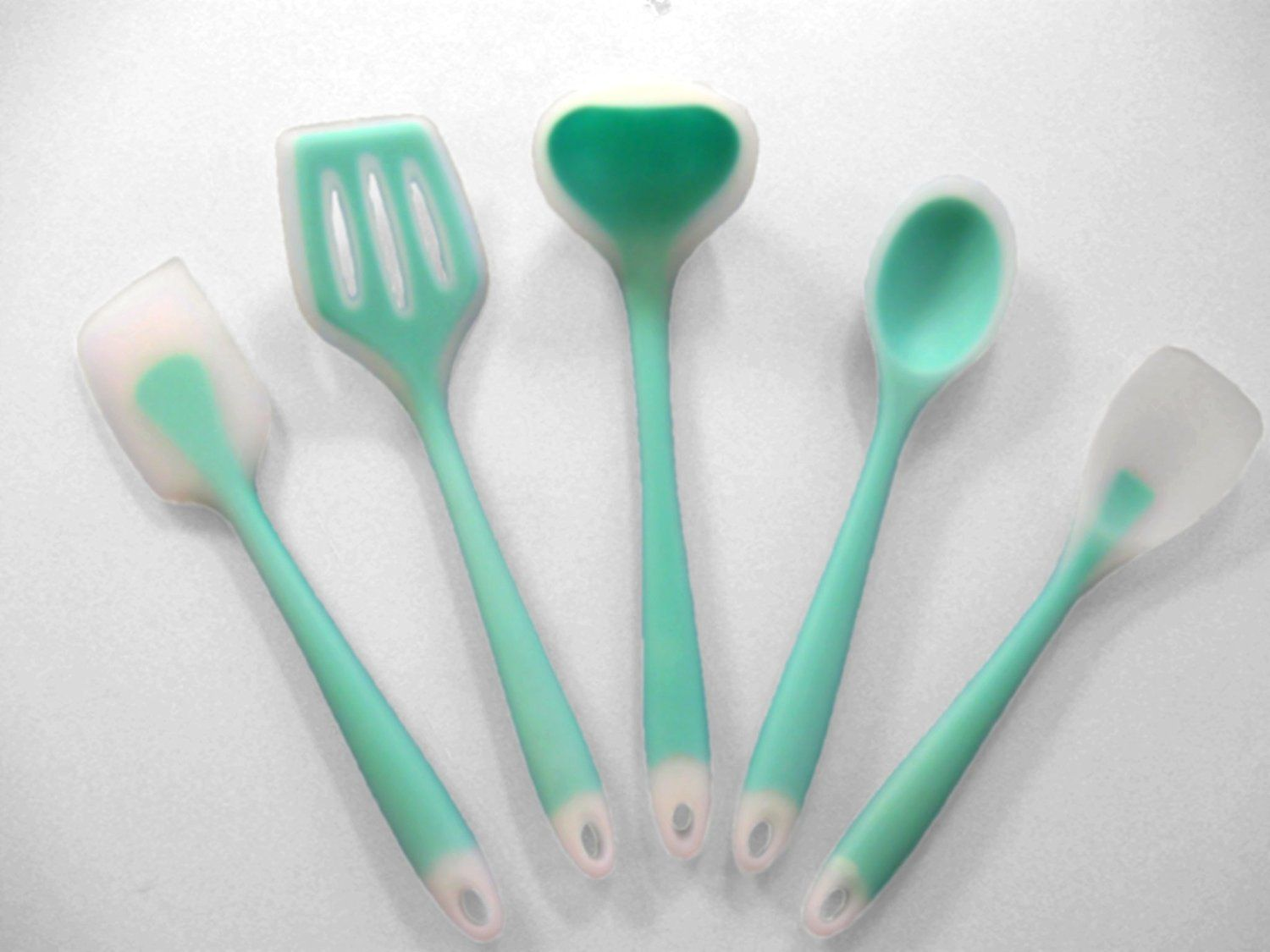 Amazon.com: HIGH QUALITY 5-piece Silicone Cooking Utensils Set with ...