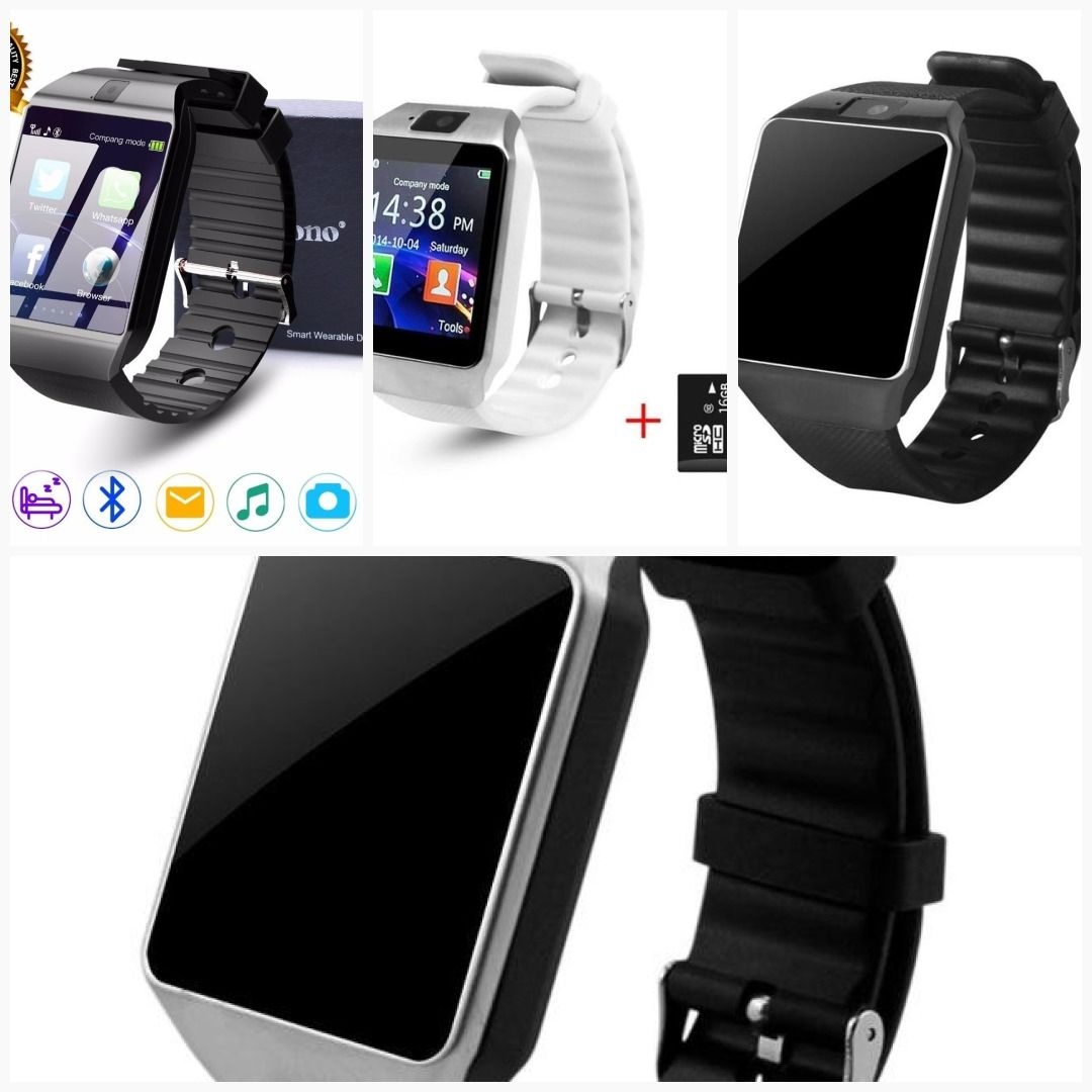 Cawono Bluetooth Smart Watch DZ09 Relojes Smartwatch Relogios TF SIM Camera  for IOS iPhone Samsung Huawei Xiaomi Android Phone  men  giftsforgirls ... f4850284111a