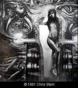Debbie Harry, airbrushed by H.R. Giger