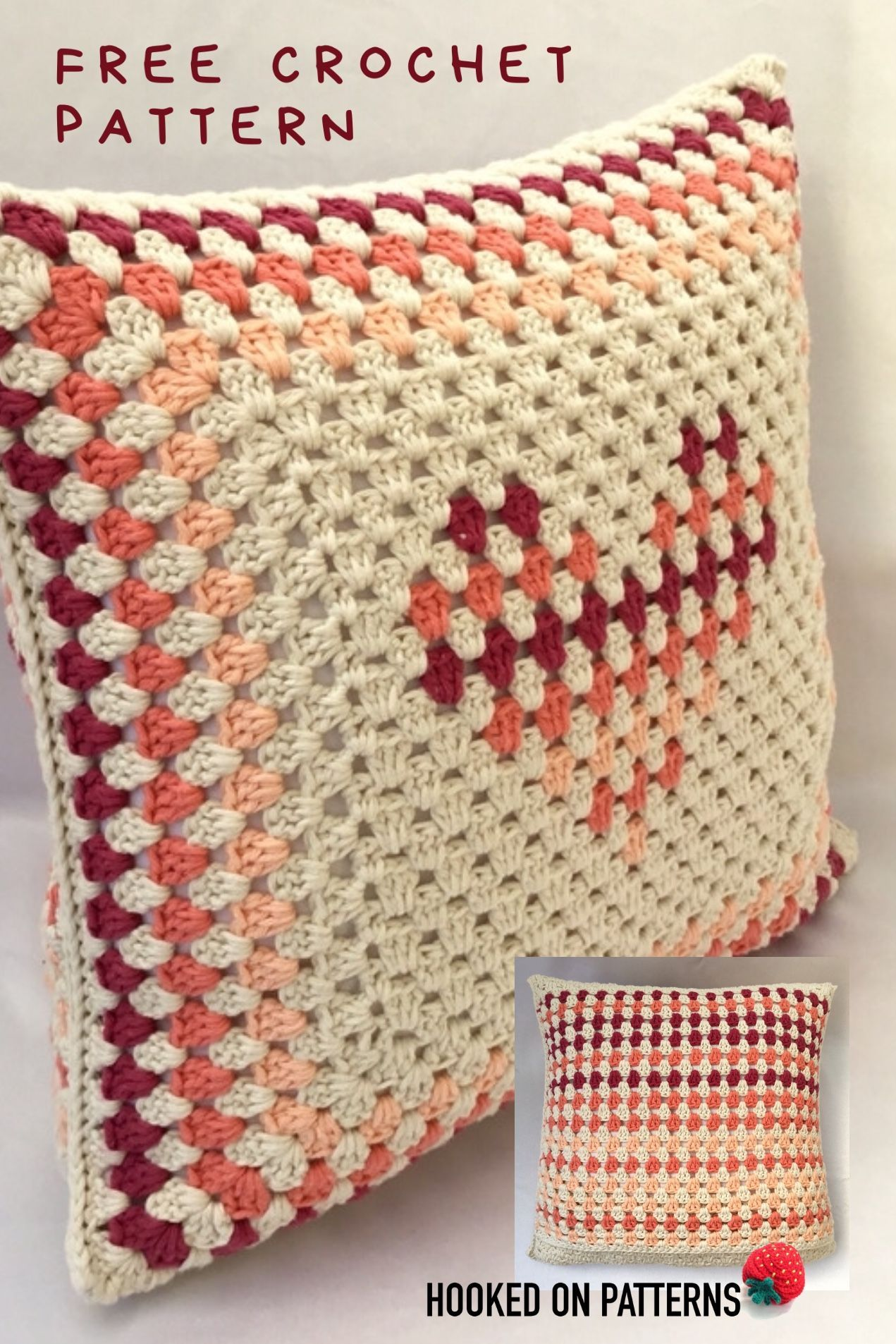 CROCHET PATTERN BEAUTIFUL LITTLE HEARTS BABY BLANKET//SHAWL /& CUSHION COVER