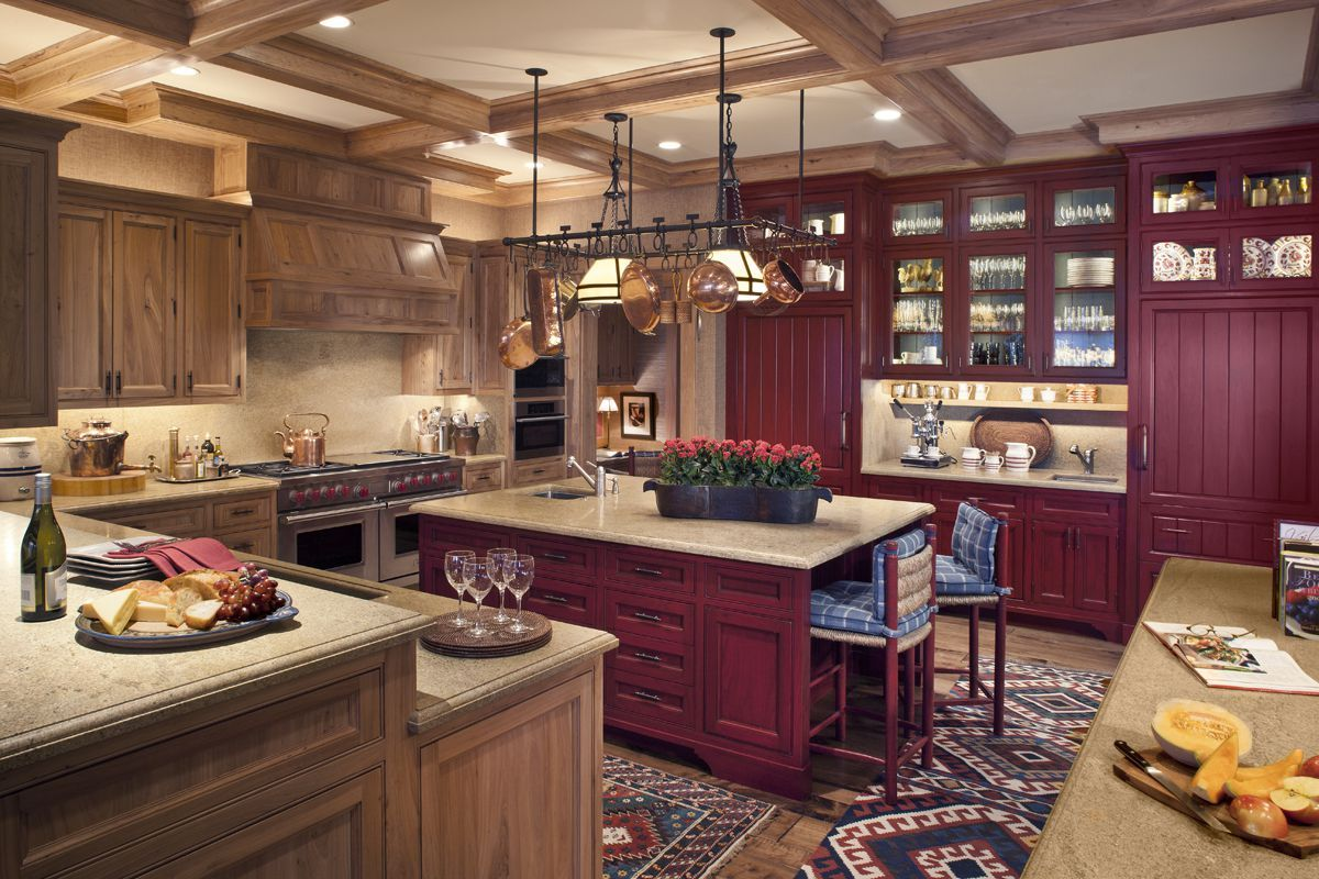 30+ Red Kitchens For The Boldest Among Us With images ...