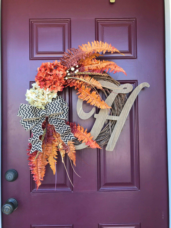 Autumn Large Letter Door Hanger Fall Wedding Decor Choose Letter Door Decorations Fall Decor Letter Door Hangers