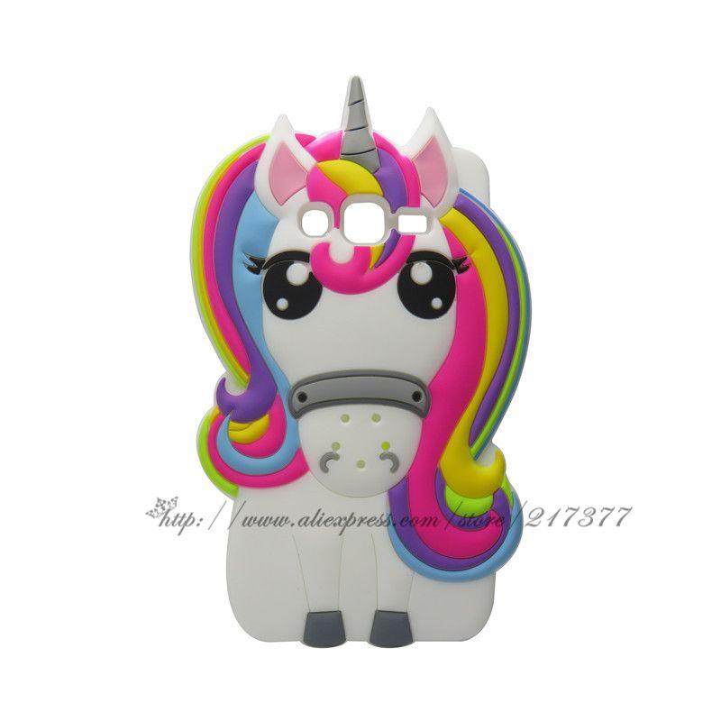 For SAMSUNG GALAXY J3 Case Cute 3D Cartoon unicorn Silicone Case ...