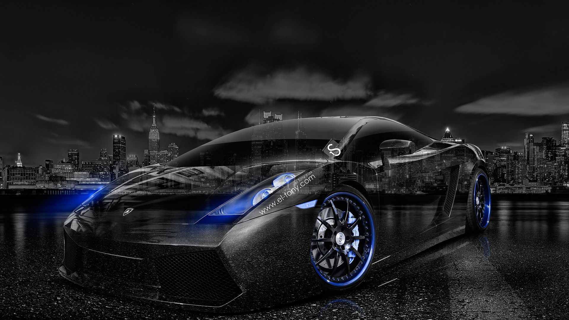 Amazing Lamborghini Gallardo Back Abstract Car Design By Tony Kokhan Wallpapers) U2013  HD Desktop Wallpapers