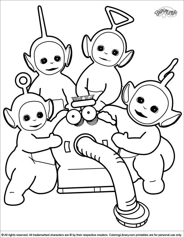 teletubbies coloring pages Cute Teletubbies coloring page | Coloring pages | Pinterest  teletubbies coloring pages