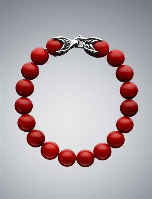 5a4a190add3b1 David Yurman Red Coral Spiritual Bracelet | Coral Jewelry ...