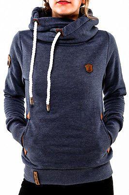 Naketano Darth IV bluegrey melange 1431-0204 Hoodie Kapuze Pullover in Kleidung & Accessoires, Damenmode, Kapuzenpullover & Sweats | eBay