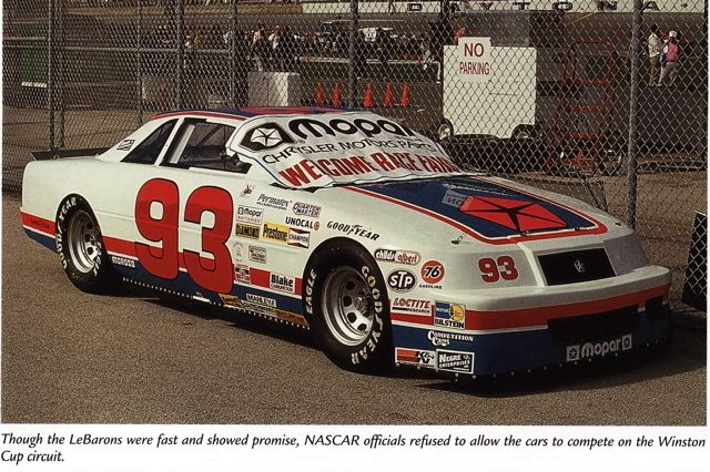 Lebaron The Car That Nascar Banned In The S Nascar Stuff